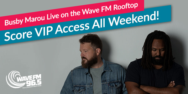 Busby Marou on Wave FM rooftop