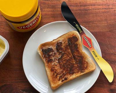 VEGEKNIFE and VEGEMITE toast