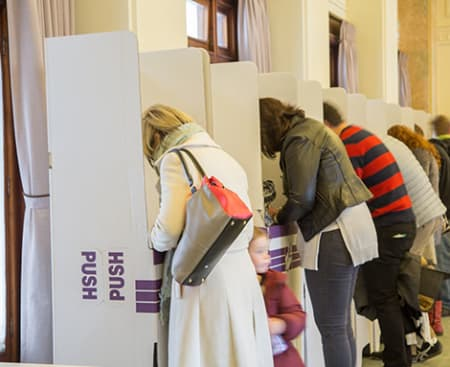 2016 Australian Election Voting booths