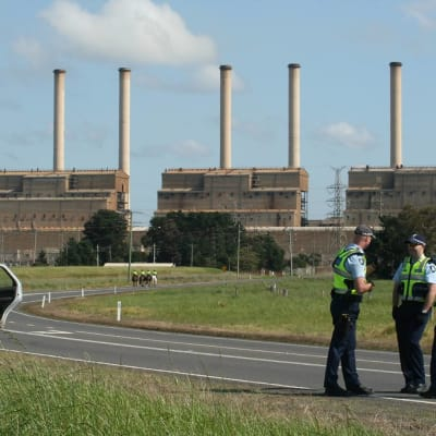 Police road block - Replace Hazelwood Coal Power Station