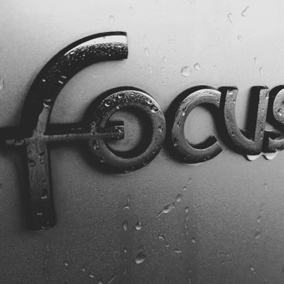 Black And White, Car, Drops, Focus, Ford, Sign