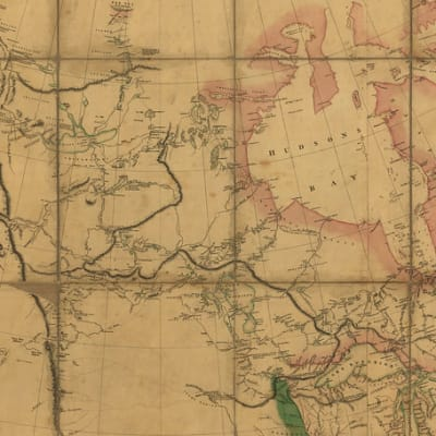 A Section of the Map of North America (Aaron Arrowsmith 1802)