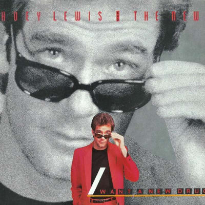 Vintage Vinyl Record Collection - Huey Lewis And The News - I Want A New Drug, Chrysalis Records, Catalog VS4 42766, Country - US, 7-Inch 45 RPM Record, Released 1983