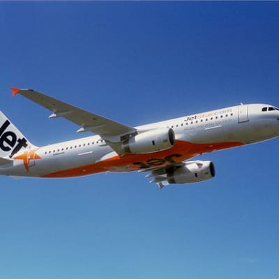 Jetstar Airbus A320 in flight