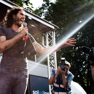 Russell Brand London Revolution Protest