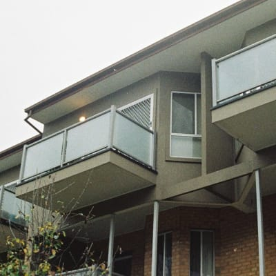Balcony on ugly town unit