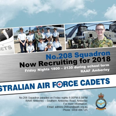 No.208 Squadron Australian Air Force Cadets Sign On 2018