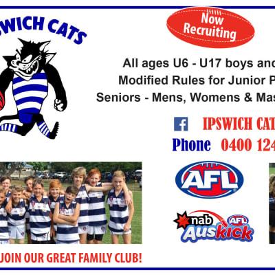 Ipswich Cats - Auskick Commencing