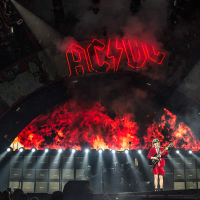 Angus Young of AC/DC performs at Nationwide Arena on Sunday, Sept. 4, 2016, in Columbus, Ohio. (Photo by Amy Harris/Invision/AP)