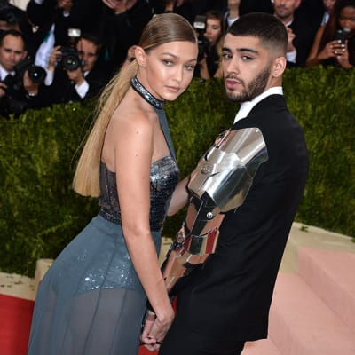 Zayn Malik and Gigi Hadid attend the Manus x Machina: Fashion in an Age of Technology Costume Institute Benefit Gala at Metropolitan Museum of Art on May 2, 2016 in New York City, NY, USA.. Photo By Lionel Hahn/ABACAPRESS.COM