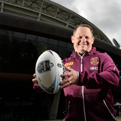 State of Origin Coach Kevin Walters poses for a photo at Adelaide Oval, in Adelaide, Monday, August 19, 2019. State of Origin Coaches Brad Fittler and Kevin Walters make an announcement around next year