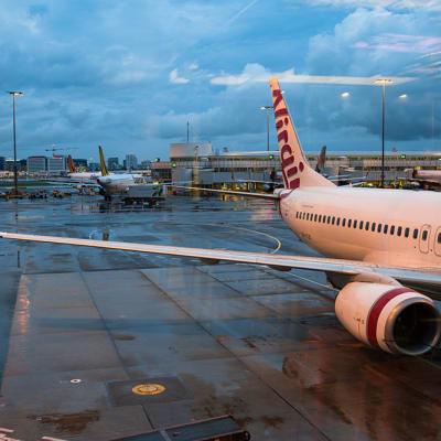 Sydney, Australia - December 7, 2016: Virgin Australia air craft on parking bay at the Kingsford Smith Airport in Sydney
