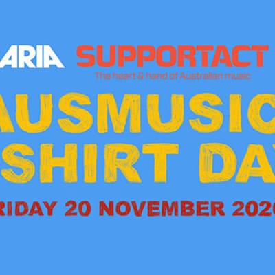 ausmusic tshirt day nov20