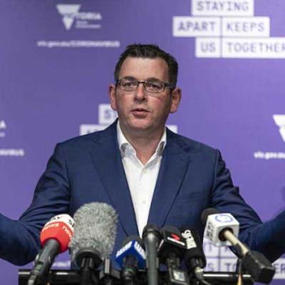Victorian Premier Daniel Andrews addresses the media