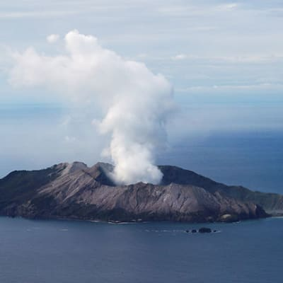 An aerial view of the Whakaari, also known as White Island volcano, in New Zealand, December 12, 2019. REUTERS/Jorge Silva TPX IMAGES OF THE DAY REFILE - CORRECTING LOCATION