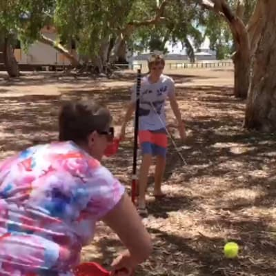 tennis kids grandma
