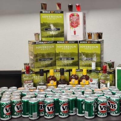 19_April_-_Alcohol_seized_-_Tennant_Creek._Grog_tower.jpg