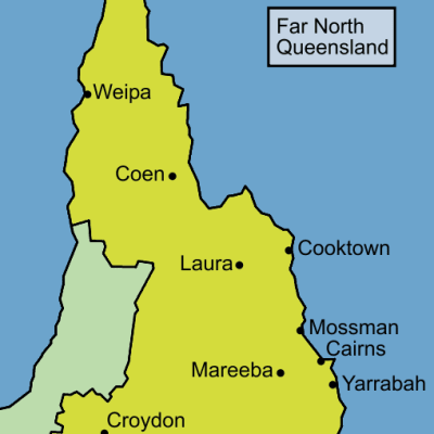 Image result for far north qld map