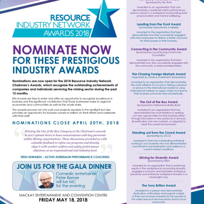 2018 RIN AWARDS A4 flyer with categories