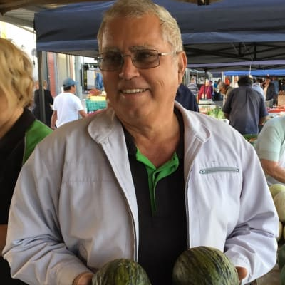Brian Camilleri with his Toad Melons