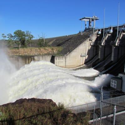 Dam flood release