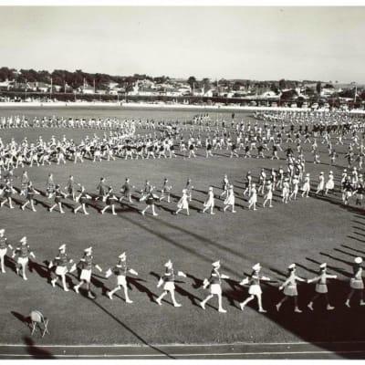 marching girls