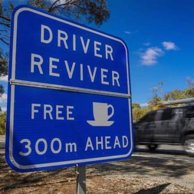 driver reviver australia sign