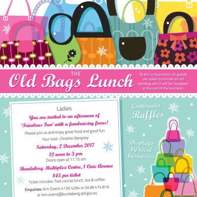 Old Bags Lunch Poster