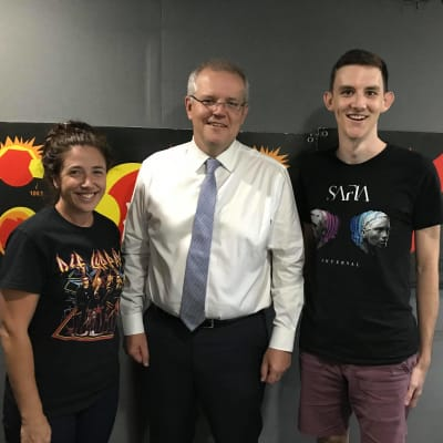Scott Morrison PM Sarah Taz Hot100