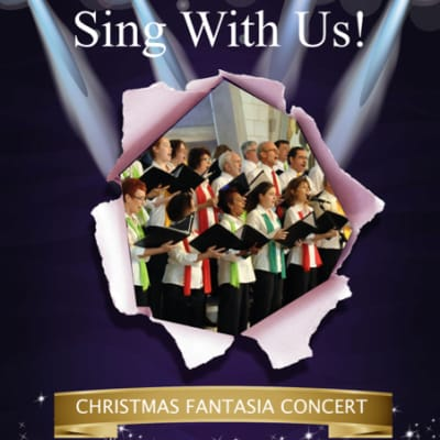 Christmas Fantasia concert! New singers welcome...