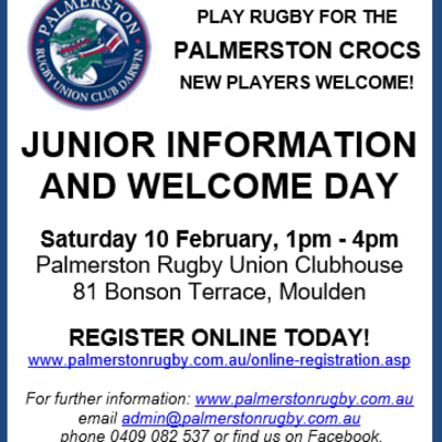 Palmerston Crocs Junior Sign On Day