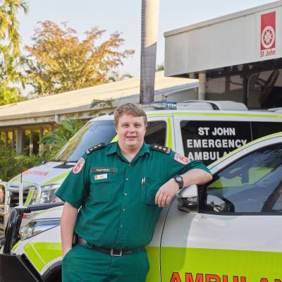 St Johns Ambulance Darwin. Photo Shane Eecen