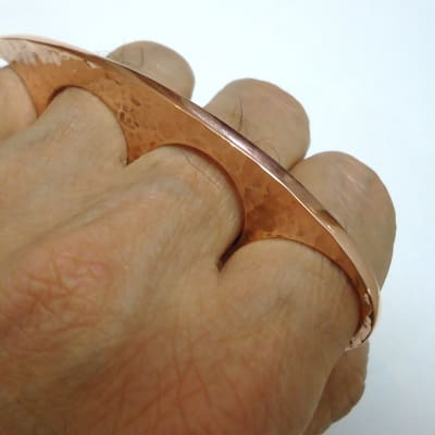 Copper brass knuckles 2