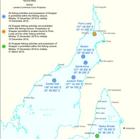 snapper closure map