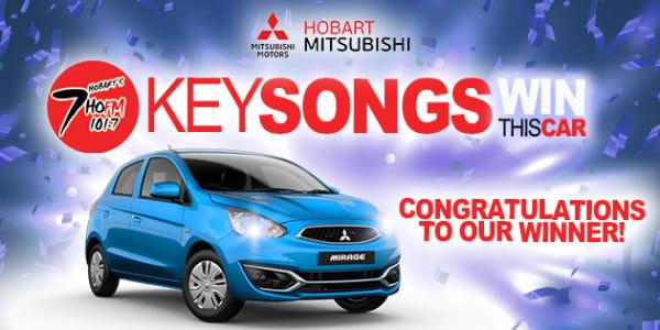 hobart mitsubishi mirage giveaway key songs winner