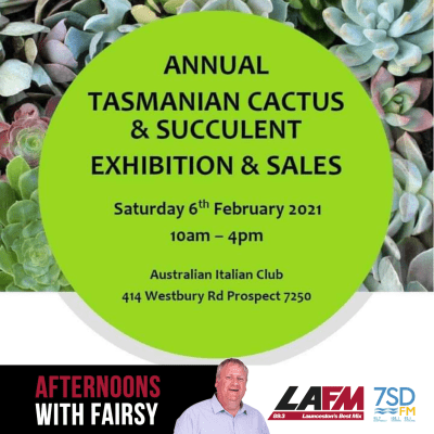 Cactus and Succulent Exhibition on in just two weeks' time