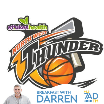 NW Thunder Coach Nick Haywood. April 21