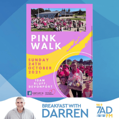 Pink Walk on sunday at Devonport Bluff.