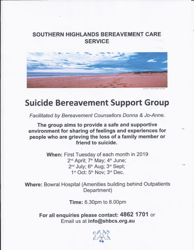 Suicide Bereavement Support Group - Shoalhaven Community