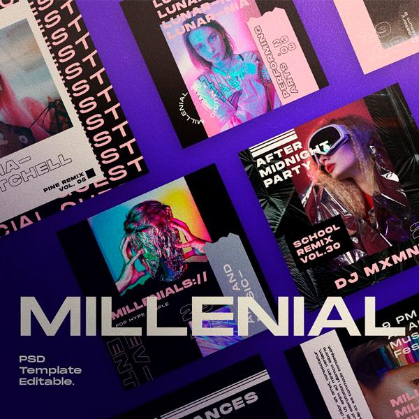 Millenial Plantilla Redes Sociales