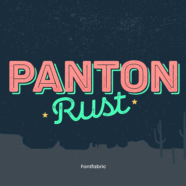 Panton Rust Tipografía