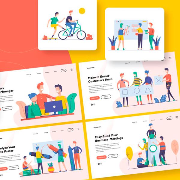 Startup Teamwork Pack V Ilustraciones