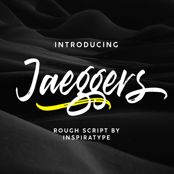 Jaeggers Rough Script Tipografía