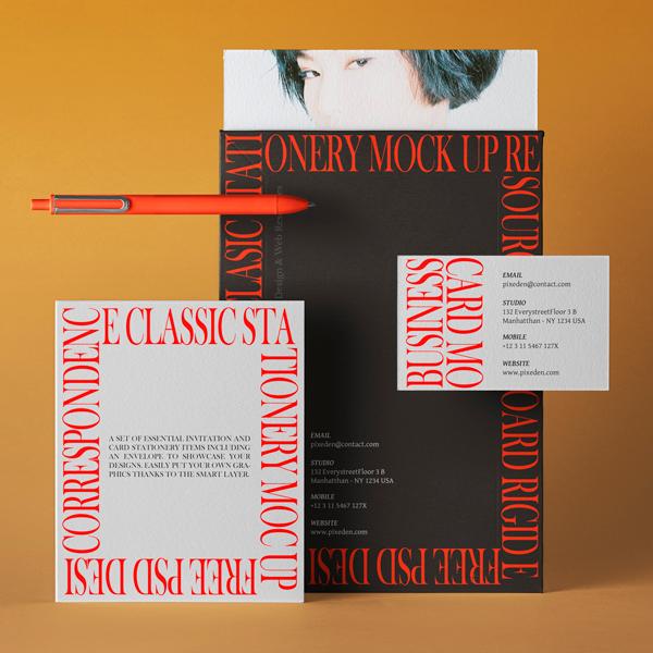 Classic Mockup Branding Papelería v24