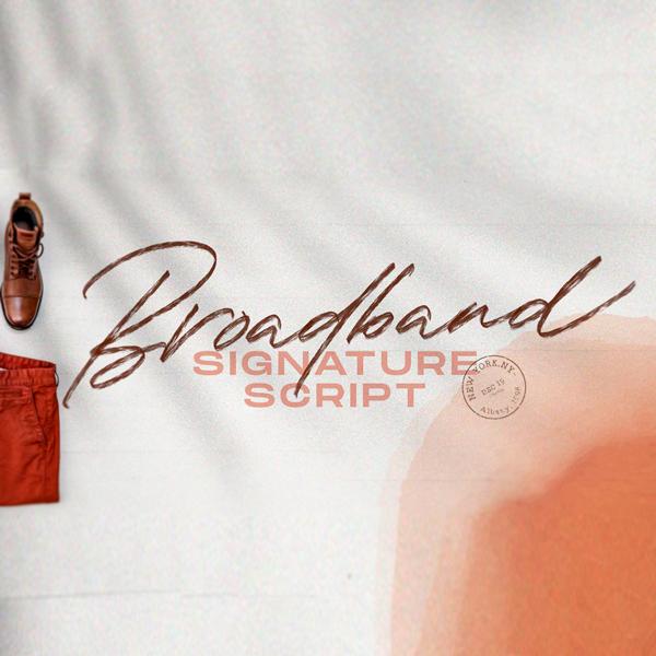 Broadband Script Tipografía