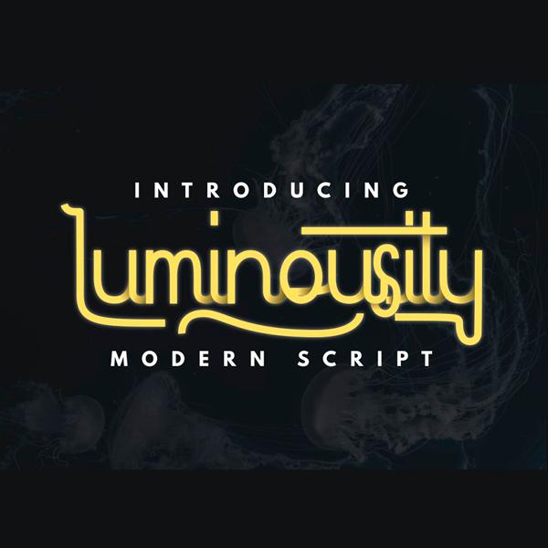 Luminousity Modern Script Tipografía