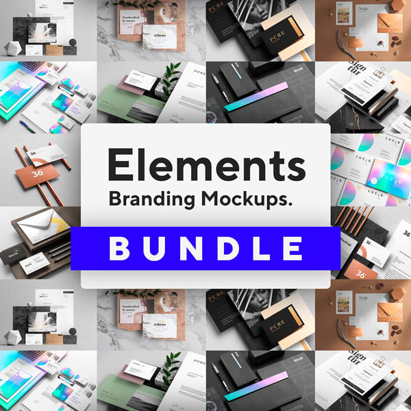 Elements Paquete Mockups Branding