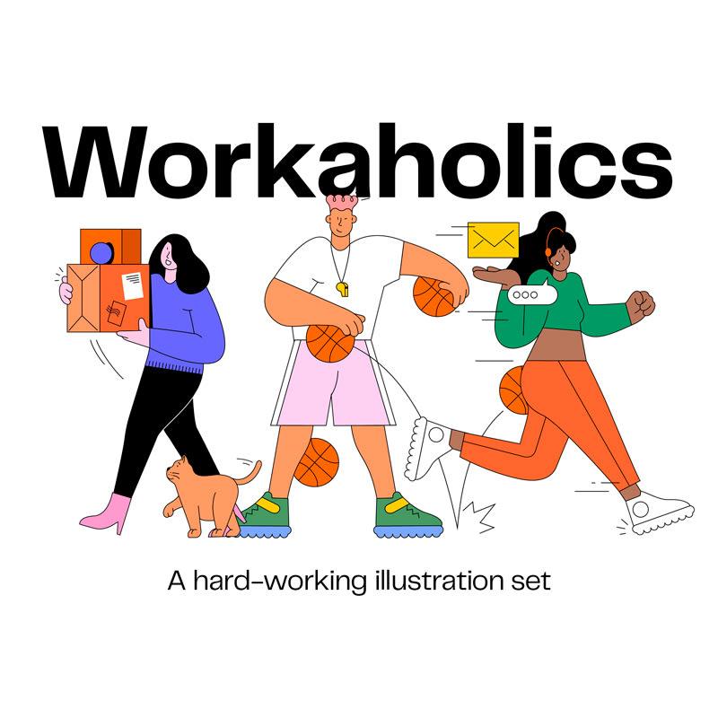 Worklaholics Ilustraciones