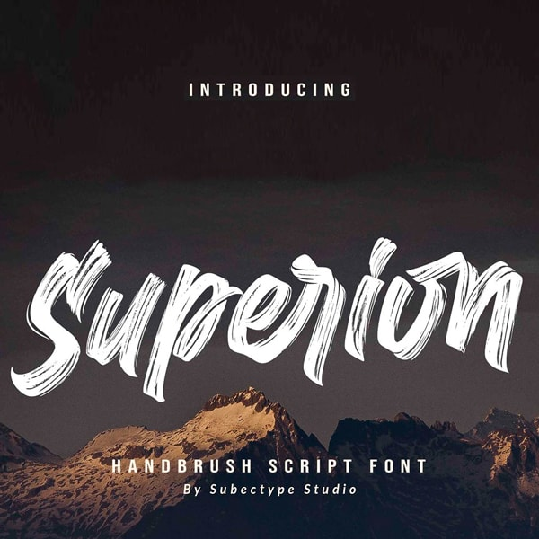 Superion Brush Script Tipografía
