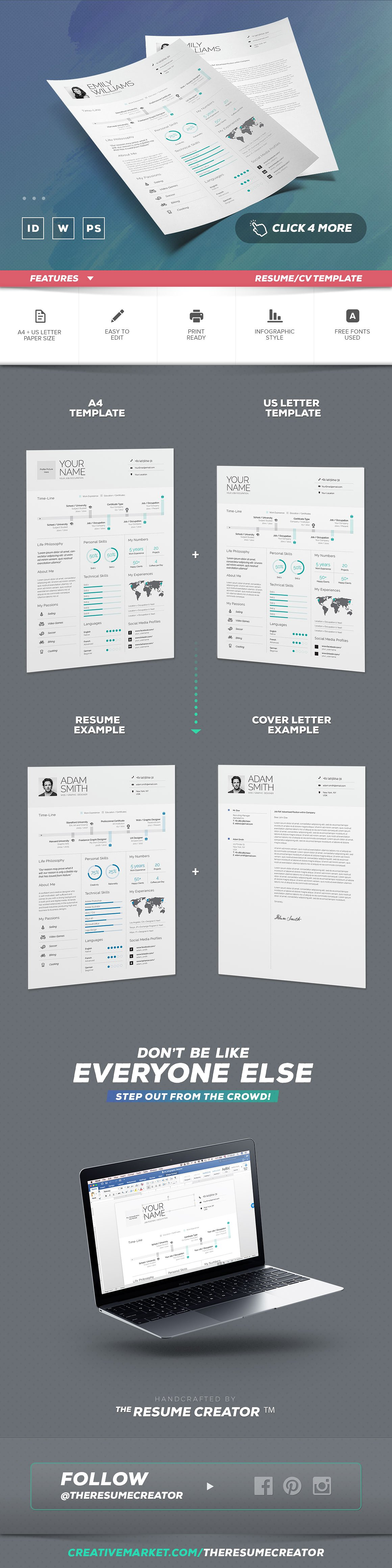 Plantilla CV Infográfico v9 - 1001.graphics